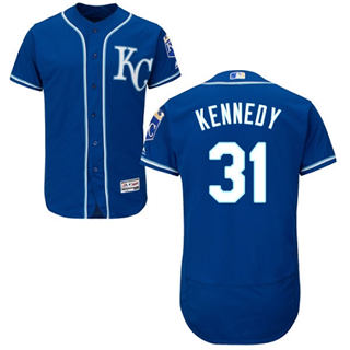 Men's Royals #31 Ian Kennedy Royal Blue Flexbase  Collection Stitched Baseball Jersey
