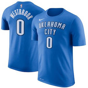 Men's Russell Westbrook Oklahoma City Thunder  Name & Number Performance T-Shirt – Blue