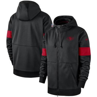 Men's San Francisco 49ers Sideline Performance Full-Zip Pullover Hoodie – Black