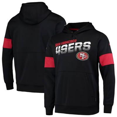 Men's San Francisco 49ers Sideline Team Logo Performance Pullover Hoodie - Black