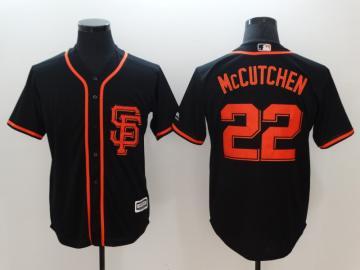Men's San Francisco Giants #22 Andrew McCutchen Black Alternate Cool Base Stitched Baseball Jersey
