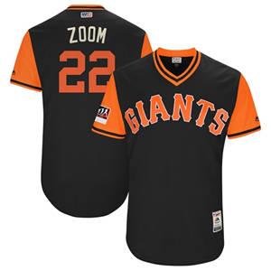 Men's San Francisco Giants #22 Andrew McCutchen Black Zoom Players Weekend Baseball Jersey