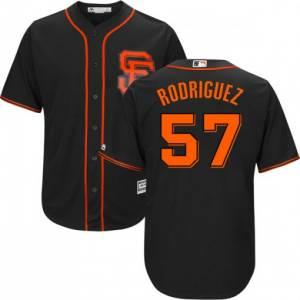 Men's San Francisco Giants #57 Derek Rodriguez Black Cool Base Jersey