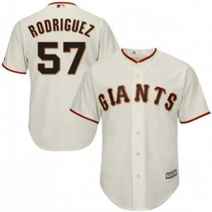 Men's San Francisco Giants #57 Derek Rodriguez Cream Cool Base Jersey