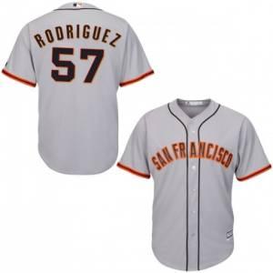 Men's San Francisco Giants #57 Derek Rodriguez Gray Cool Base Jersey