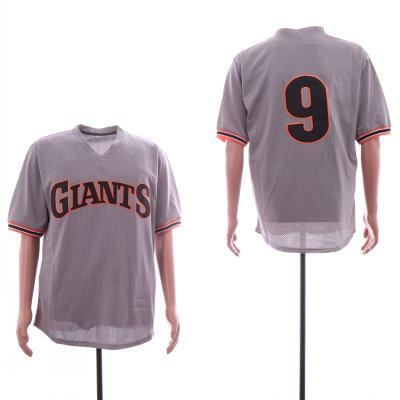 Men's San Francisco Giants 9 Matt Williams Gray BP Mesh Jersey