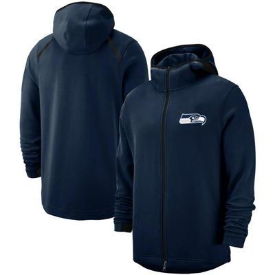 Men's Seattle Seahawks Team Logo Full-Zip Pullover Hoodie - Navy