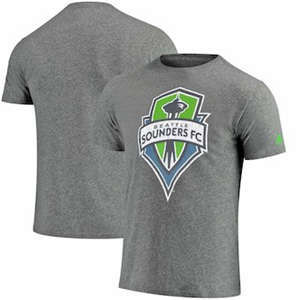 Men's Seattle Sounders FC  Vintage Too Tri-Blend T-Shirt - Heathered Gray
