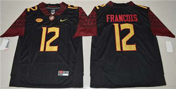 Men's Seminoles #12 Deondre Francois Black Limited Stitched NCAA Jersey