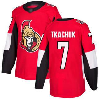 Men's Senators #7 Brady Tkachuk Red Home  Stitched Hockey Jersey