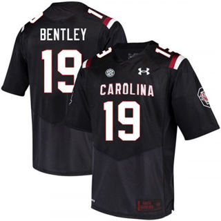 Men's South Carolina Gamecocks #19 Jake Bentley Jersey Black NCAA