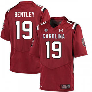 Men's South Carolina Gamecocks #19 Jake Bentley Jersey Scarlet NCAA