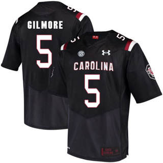 Men's South Carolina Gamecocks #5 Stephon Gilmore Jersey Black NCAA