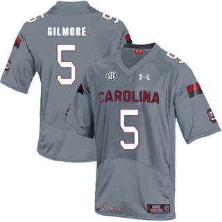 Men's South Carolina Gamecocks #5 Stephon Gilmore Jersey Grey NCAA