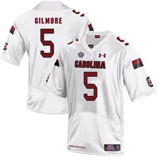 Men's South Carolina Gamecocks #5 Stephon Gilmore Jersey White NCAA