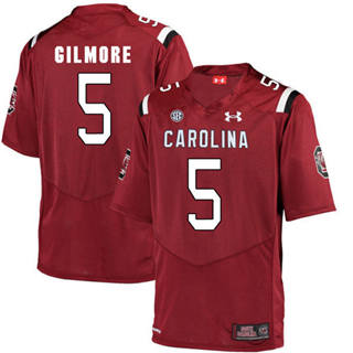 Men's South Carolina Gamecocks 5 Stephon Gilmore Jersey Scarlet NCAA