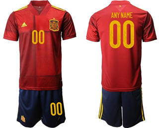 Men's Spain Personalized Home Soccer Country Jersey