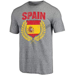 Men's Spain Spirit Tri-Blend T-Shirt - Heathered Gray