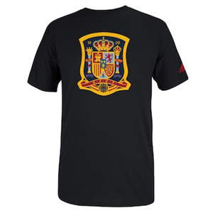 Men's Spain  Futbol Crest T-Shirt - Black