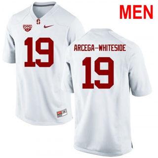 Men's Stanford Cardinal #19 JJ Arcega-Whiteside NCAA Football Jersey White