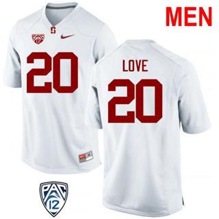 Men's Stanford Cardinal #20 Bryce Love 2019 NCAA Football Jersey White