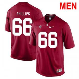 Men's Stanford Cardinal #66 Harrison Phillips 2019 NCAA Football Jersey Red