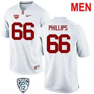 Men's Stanford Cardinal #66 Harrison Phillips NCAA Football Jersey White