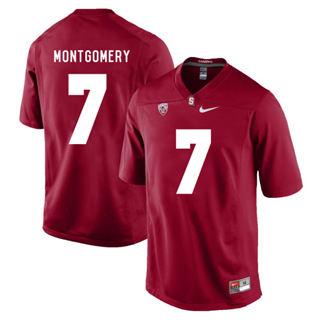 Men's Stanford Cardinal #7 Ty Montgomery NCAA Football Jersey Cardinal