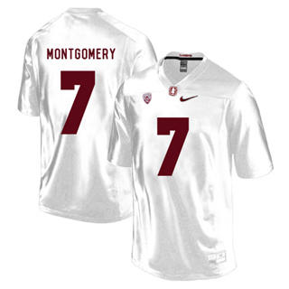 Men's Stanford Cardinal #7 Ty Montgomery NCAA Football Jersey White