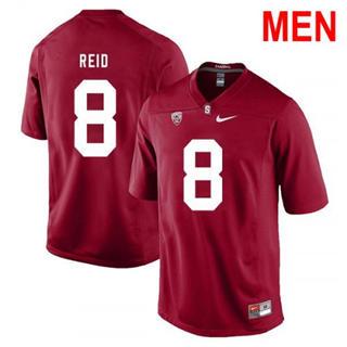 Men's Stanford Cardinal #8 Justin Reid 2019 NCAA Football Jersey Red