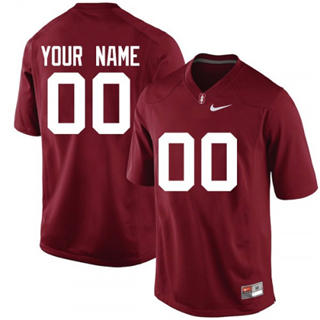 Men's Stanford Cardinal Custom Name Number Jersey NCAA Scarlet 19-20