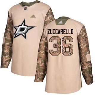 Men's Stars #36 Mats Zuccarello Camo  2017 Veterans Day Stitched Hockey Jersey