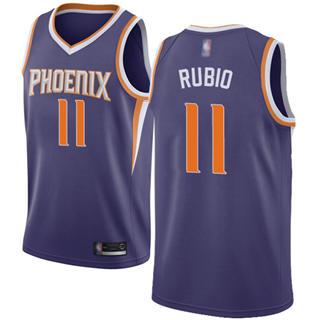 Men's Suns #11 Ricky Rubio Purple Basketball Swingman Icon Edition Jersey