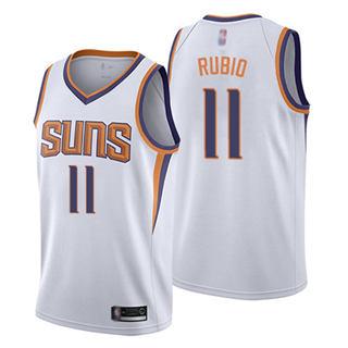 Men's Suns #11 Ricky Rubio White Basketball Swingman Association Edition Jersey