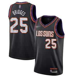 Men's Suns #25 Mikal Bridges Black Basketball Swingman City Edition 2019-2020 Jersey