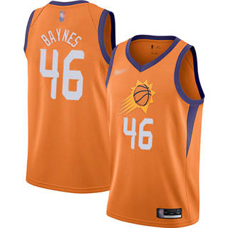 Men's Suns #46 Aron Baynes Orange Basketball Swingman Statement Edition 2019-2020 Jersey