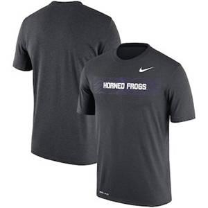 Men's TCU Horned Frogs  Sideline Seismic Legend Performance T-Shirt – Charcoal