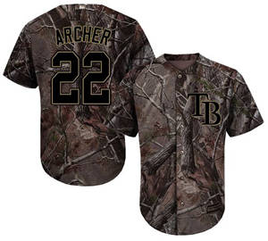 Men's Tampa Bay Rays #22 Chris Archer Camo Realtree Collection Cool Base Stitched Baseball Jersey