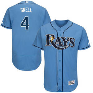 Men's Tampa Bay Rays #4 Blake Snell Light Blue Flexbase Majestic  Alternate Collection Stitched Baseball Jersey