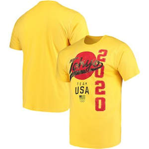 Men's Team USA 2020 Summer Olympics Road to Tokyo T-Shirt – Yellow