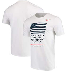 Men's Team USA  Core Cotton T-Shirt – White