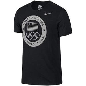 Men's Team USA  Dri-Blend Logo Performance T-Shirt - Charcoal