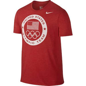 Men's Team USA  Dri-Blend Logo Performance T-Shirt - Red