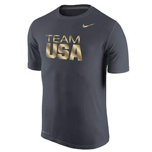 Men's Team USA  Legend Gold T-Shirt - Anthracite