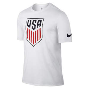 Men's Team USA  Soccer Crest T-Shirt - White