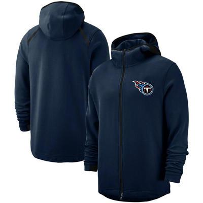 Men's Tennessee Titans Team Logo Full-Zip Pullover Hoodie - Navy