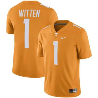 Men's Tennessee Volunteers #1 Jason Witten NCAA Jersey Tennessee Orange