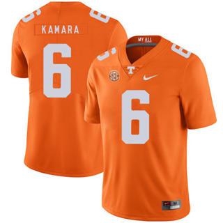 Men's Tennessee Volunteers #6 Alvin Kamara Jersey Orange NCAA