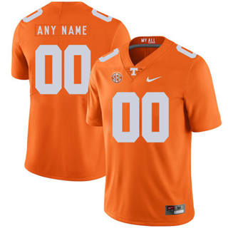 Men's Tennessee Volunteers Custom Name Number College Football Jersey Orange