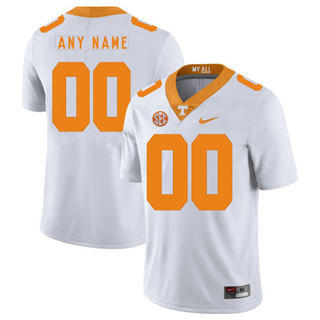 Men's Tennessee Volunteers Custom Name Number College Football Jersey White